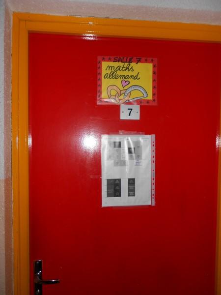 salle de maths/allemand