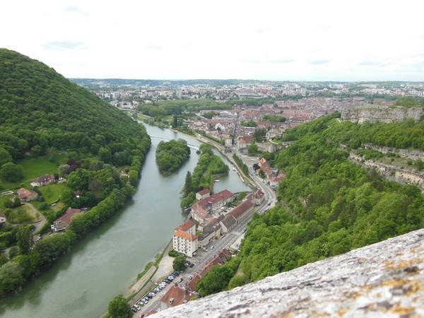 Besançon vue depuis la citadelle...